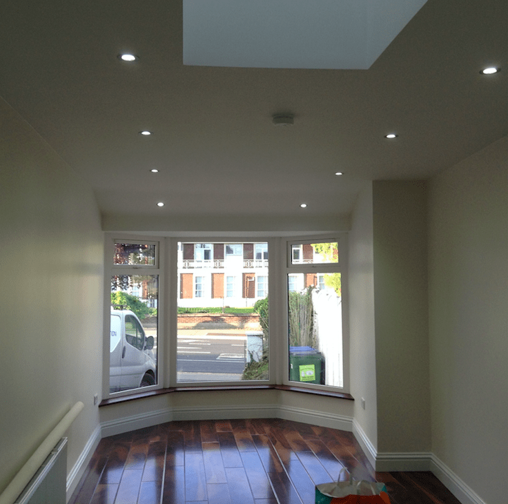 timber floors, sky light and lighting
